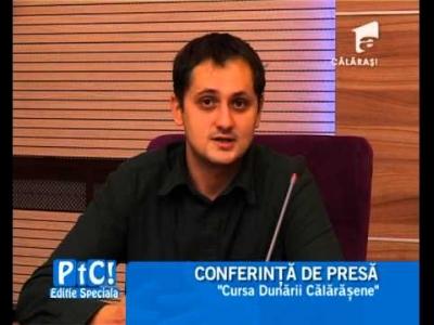 Reportaj Antena 1 -24.09.2014-Conferinta de presa- Cursa Dunarii Calarasene